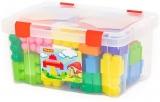 Cuburi constructii Jumbo 50595, 74 piese/ cutie, Polesie