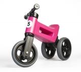 Bicicleta copii, fara pedale, Rider Sport 2 in 1, roz, Funny Wheels