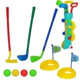 Joc golf cu suport din plastic
