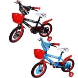 Bicicleta copii, baieti, cadru metalic, roti 14 inch, cos plastic, diverse culori Police