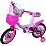 Bicicleta copii, fete, cadru metalic, roti 14 inch, cos plastic, mov