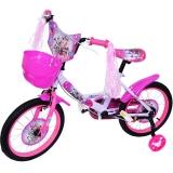 Bicicleta copii, fete, cadru metalic, roti 16 inch, cos plastic, mov
