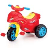 Tricicleta moto cu pedale, 67 cm, multicolor Dolu