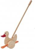 Jucarie din lemn pentru impins, model ratusca, Tupiko