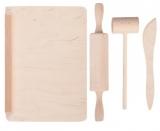 Set de joaca Ustensile bucatarie din lemn Tupiko