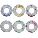 Colac gonflabil baie copii, 60 cm, cu sclipici, diverse culori