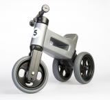 Bicicleta copii, fara pedale, Rider Sport 2 in 1, gri, Funny Wheels