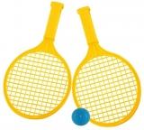 Set de joaca Palete Beach Ball cu minge, culoare galben, Tupiko