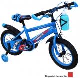 Bicicleta copii, cadru metalic, roti 12 inch, roti ajutatoare, suport sticla, diferite culori, Free
