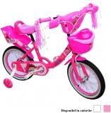 Bicicleta copii, fete, cadru metalic, roti 14 inch, cos plastic, diferite culori, Girl