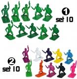 Figurine PP multicolore, 10 buc/set