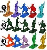Figurine PP multicolore, 5 buc/set