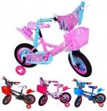 Bicicleta copii, cadru metal, roti 12 inch, diverse culori