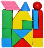 Forme geometrice din lemn, color