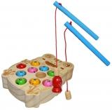 Joc de pescuit din lemn, magnetic, Broscuta