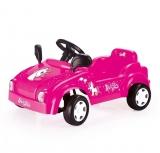 Masina cu pedale, model Unicorn, roz, Dolu
