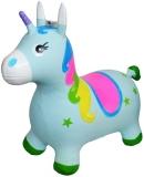 Unicorn din cauciuc, gonflabil, cu lumina si muzica, diverse culori