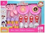 Set de joaca Ustensile bucatarie, pentru fete, in cutie