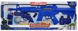 Set de joaca pusca, pistol si accesorii culoare albastru