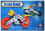 Joc constructii metal, motocicleta, 67 piese