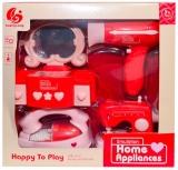 Set de joaca Aparate casnice si accesorii frumusete, cu baterii, 4 buc/set
