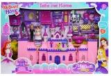 Castel muzical cu 2 figurine si accesorii
