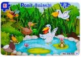 Puzzle carton, 28 piese, model Animale