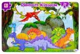 Puzzle carton, 28 piese, model Dinozaur