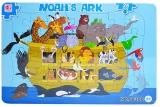 Puzzle carton, 28 piese, model Arca lui Noe