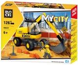Joc constructie Excavator, 126 piese, Blocki