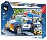 Joc constructie Jeep politie, 86 piese, Blocki