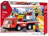 Joc constructie Masina de pompieri, 188 piese, Blocki