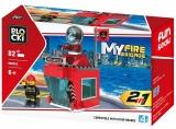 Joc constructie Turn control Pompieri, 82 piese, Blocki