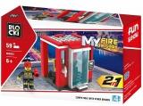 Joc constructie Turn control Pompieri, 58 piese, Blocki