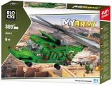 Joc constructie Elicopter armata, 369 piese, Blocki