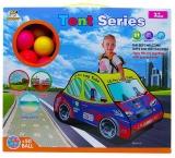 Cort de joaca cu 50 mingi plastic, model masina de politie