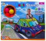 Cort de joaca cu 50 mingi plastic, model masina de pompieri