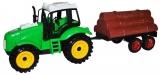 Tractor si remorca cu lemne