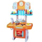 Set de joaca Aragaz cu baterii si accesorii bucatarie