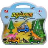 Masinute si dinozauri, 1 set/blister