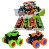 Masini cu roti de cauciuc si suspensii, culori neon, 12 buc/cutie