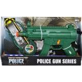 Set de joaca Pistol mitraliera Politie cu accesorii si baterii, 1 set/cutie