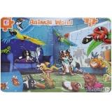 Puzzle din carton, model Lumea animalelor