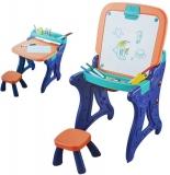 Tablita sevalet cu scaunel si accesorii, pentru baieti