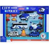 Set de joaca vehicule politie, 9 buc/set