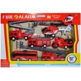 Set de joaca vehicule pompieri, 6 buc/set