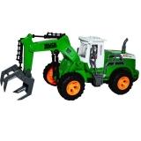 Tractor cu incarcator de lemne sau baloti, cu telecomanda RC