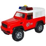 Jucarie Jeep Pompieri cu frictiune, lumina si sunet