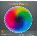 Puzzle rotund din carton, 1000 piese