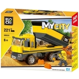 Joc constructie Camion cu bena, 221 piese, Blocki